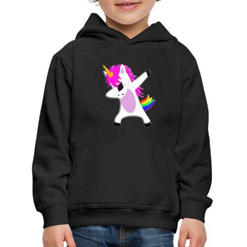 The Dabbing Unicorn - tanzendes Einhorn - Kinder Premium Hoodie