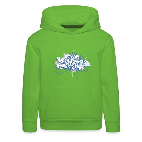 Dae 2Wear graffiti style ver01 blue edt - Premium hættetrøje til børn