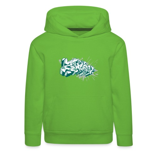 Dae 2Wear graffiti style ver2 Green edt - Premium hættetrøje til børn