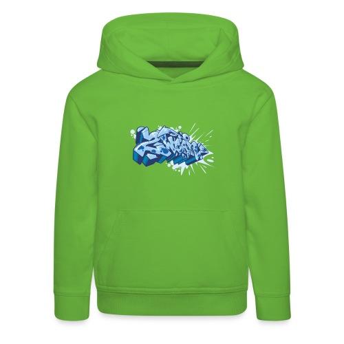Dae 2Wear graffiti style ver02 Blue edt. - Premium hættetrøje til børn