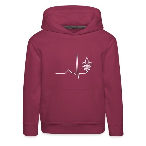 Scouts Heartbeat - Kids' Premium Hoodie
