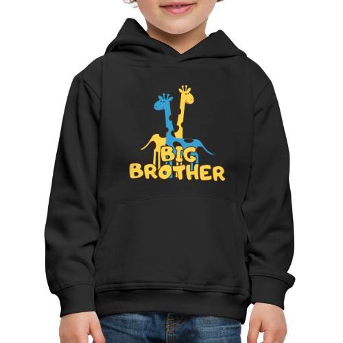 big brother giraffe babyparty shirt - Kinder Premium Hoodie