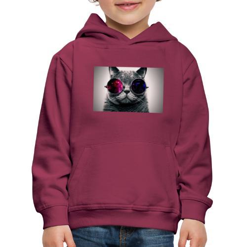 Cool Cat Merch! - Premium hættetrøje til børn