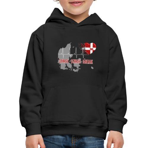 Dänemark Denmark Danmark Hygge Herzschlag EKG - Kinder Premium Hoodie