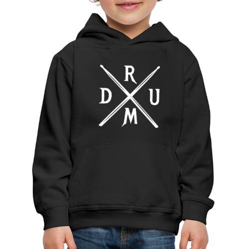 DRUM gekreuzte Drumsticks coole Schlagzeuger - Kinder Premium Hoodie