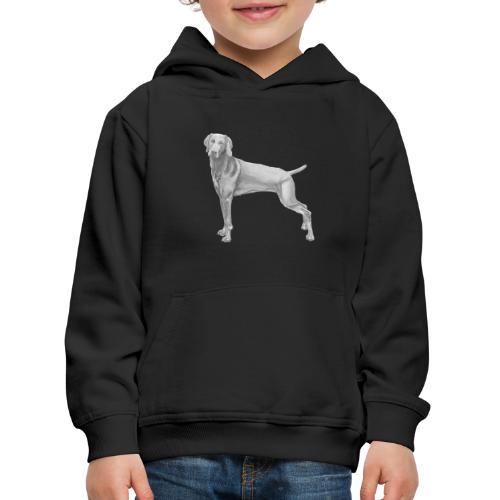 weimaraner - Premium hættetrøje til børn