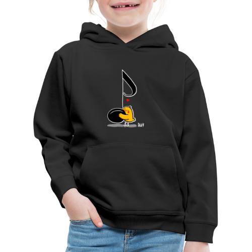 LYD 0001 02 music was my fist love - Kinder Premium Hoodie