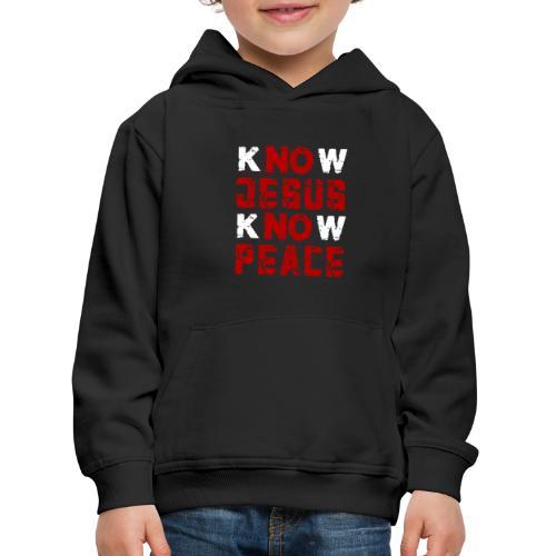 Know Jesus Know Peace (Flower Design) - Kinder Premium Hoodie