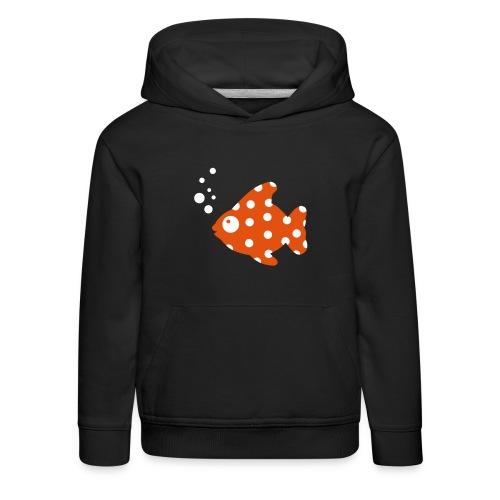 punkte fisch - Kinder Premium Hoodie