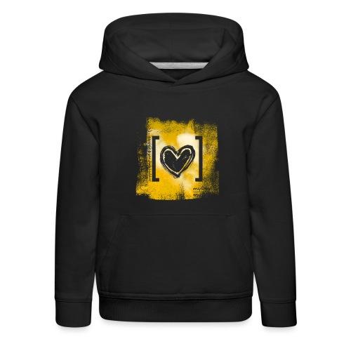 Herz / gelb - Kinder Premium Hoodie