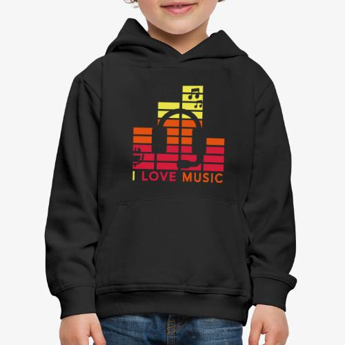 I love music Illustration Gig Band Musik Godigart - Kinder Premium Hoodie