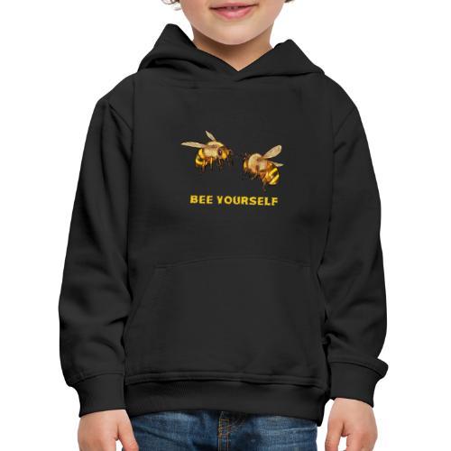 Bee yourself. Voor bijenliefhebbers, imkers. - Kinderen trui Premium met capuchon