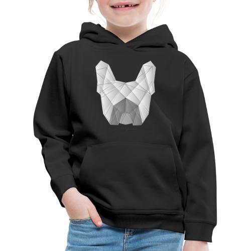 Geometric Frenchie white - Französische Bulldogge - Kinder Premium Hoodie