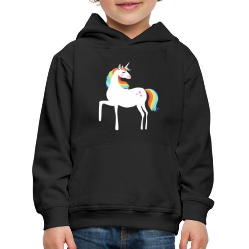 stolzierendes Einhorn bezaubernd Pferde Fabelwesen - Kinder Premium Hoodie