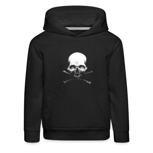 Old Skull - Felpa con cappuccio Premium per bambini