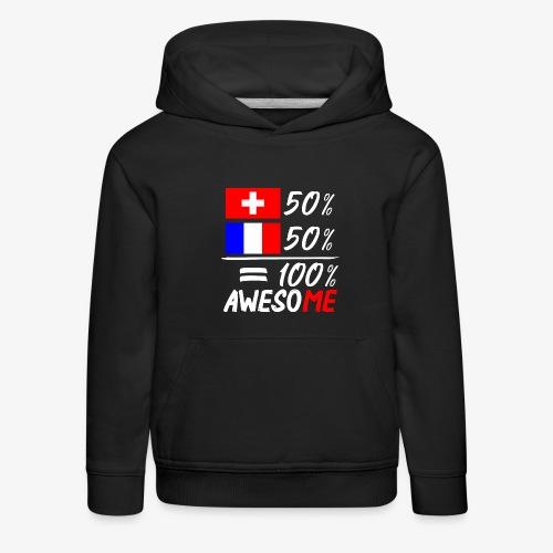 50% Schweiz 50% Frankreich - Kinder Premium Hoodie