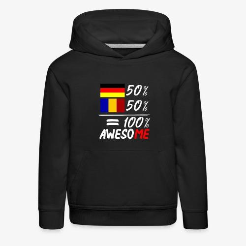 50% Deutsch 50% Rumänisch - Kinder Premium Hoodie