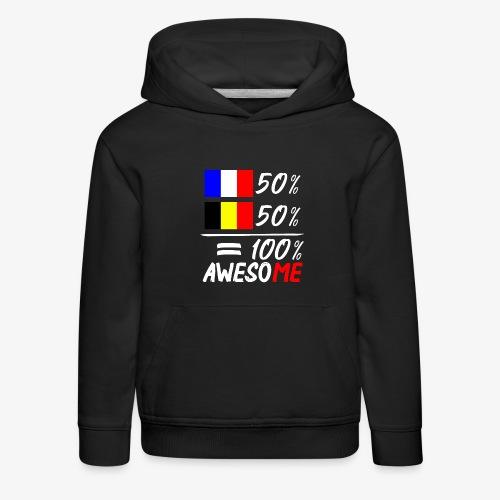50% Frankreich 50% Belgien - Kinder Premium Hoodie