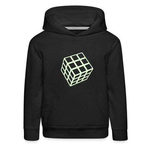 Rubik's Cube Glow In The Dark - Kids' Premium Hoodie