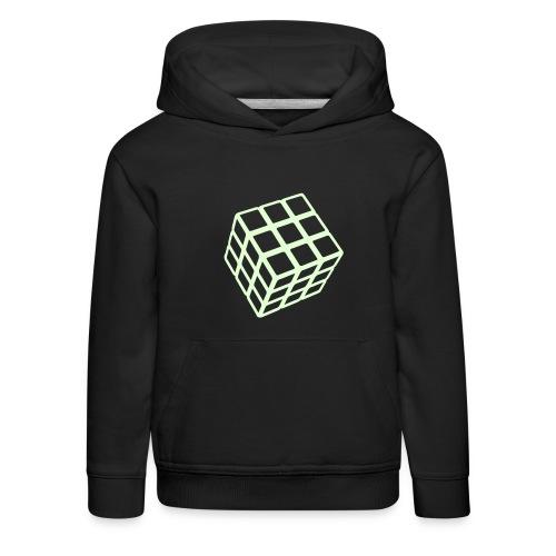Rubik's Cube Glow In The Dark - Premium-Luvtröja barn