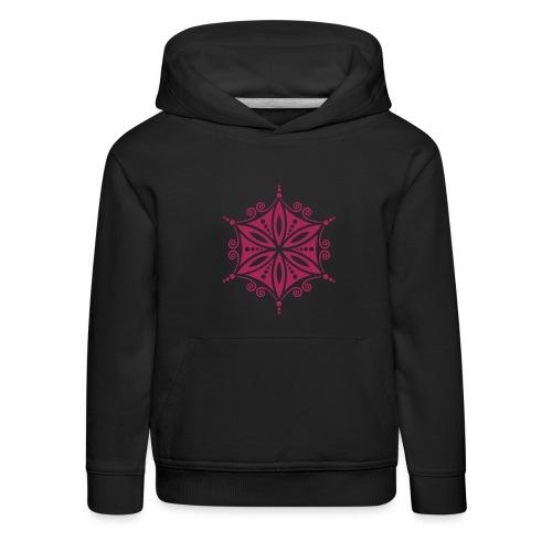 Blume des Lebens Heilige Geometrie Energie Symbol - Kinder Premium Hoodie