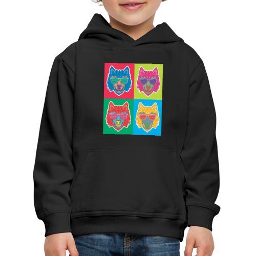 LOUP DESIGN - Pull à capuche Premium Enfant