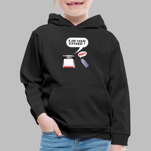 PC Nerd i am your father Diskette USB Stick - Kinder Premium Hoodie