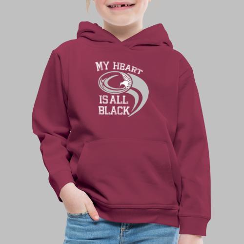 Neuseeland Rugby Fan Kiwi Farnblatt All Black - Kinder Premium Hoodie