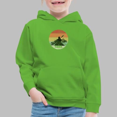 Kajak Kanu padeln Fluss Berge Retro Geschenk - Kinder Premium Hoodie