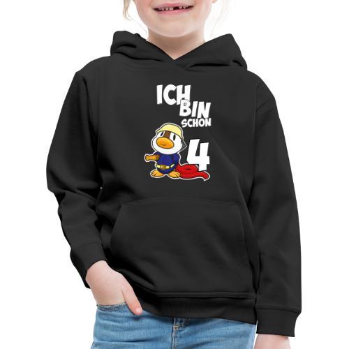 Stolze Feuerwehr Ente 4. Geburtstag Jungen Mädchen - Kinder Premium Hoodie
