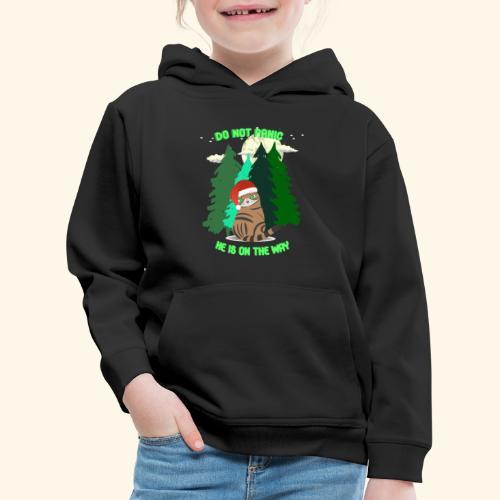 Weihnachten, Geschenke, Katzen im Wald und Mond. - Kinder Premium Hoodie