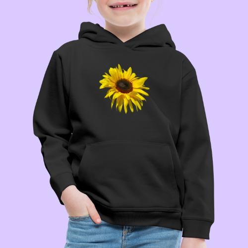 blühende Sonnenblume, Sonnenblumen, Blumen, Blüten - Kinder Premium Hoodie