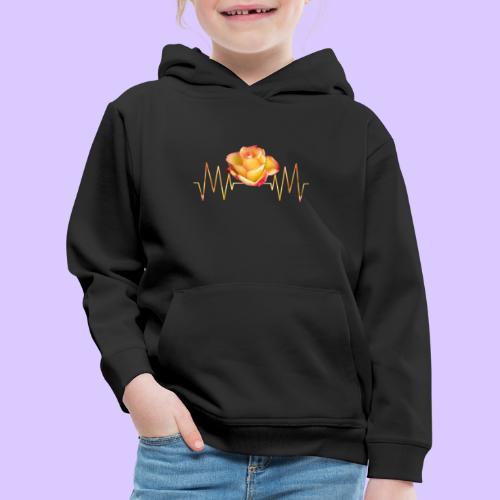 Rose, Herzschlag, Rosen, Blume, Herz, Frequenz - Kinder Premium Hoodie