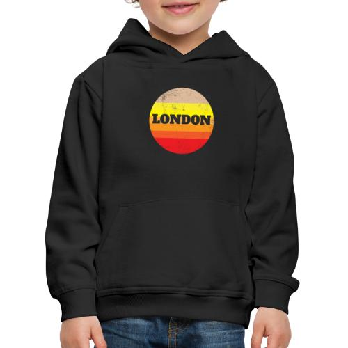 Retro London Souvenir - Vintage Sonnenuntergang Lo - Kinder Premium Hoodie