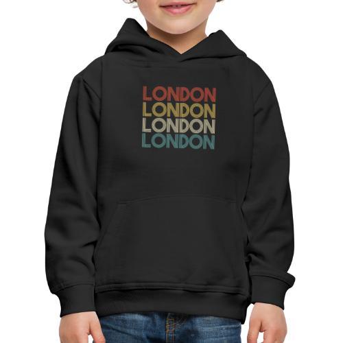 Retro London England Souvenir - Vintage London - Kinder Premium Hoodie