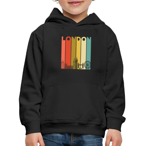Vintage London Souvenir - Retro Streifen London - Kinder Premium Hoodie