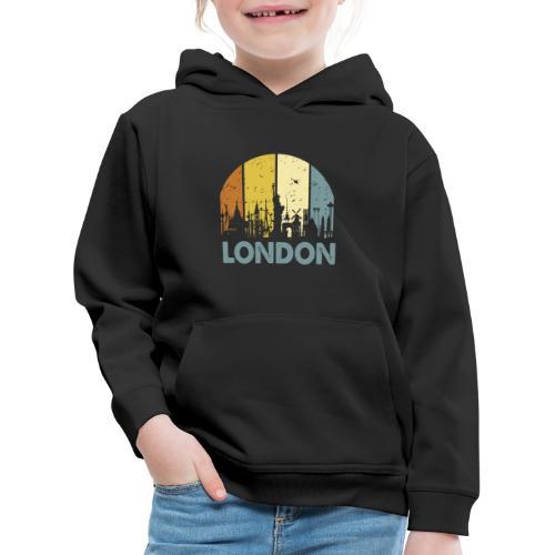 Vintage London Souvenir - Retro Skyline London - Kinder Premium Hoodie