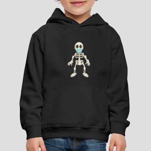 Skelett mit Maske - Virus - Kinder Premium Hoodie