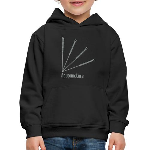 Acupuncture Eventail vect - Pull à capuche Premium Enfant