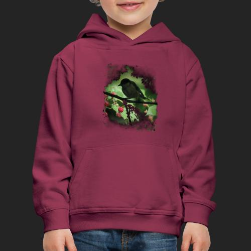 Petit oiseau dans la forêt - Pull à capuche Premium Enfant