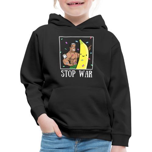 Stop War Banane Musculation - Pull à capuche Premium Enfant