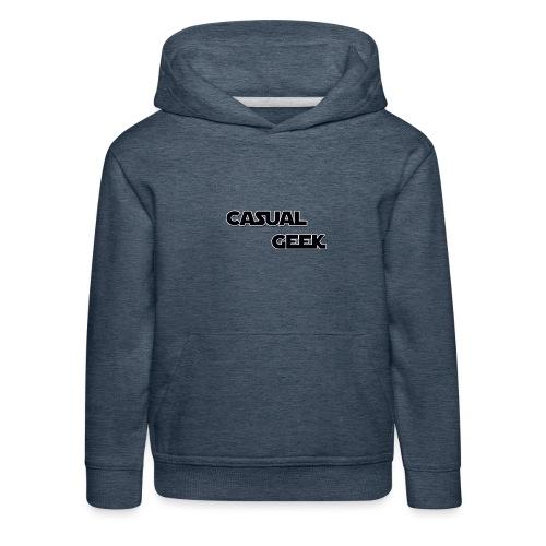 CasualGeek Standard Logo - Kids' Premium Hoodie