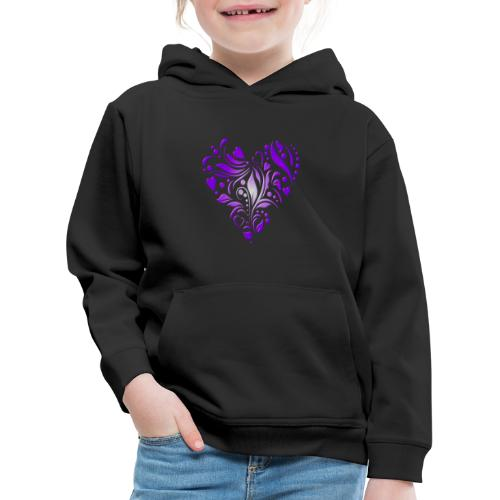 coeur mauve - Pull à capuche Premium Enfant