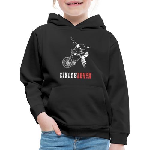 Circuslover - Acro bicycle - Felpa con cappuccio Premium per bambini