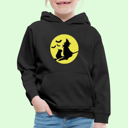La sorcière au Bouledogue - Pull à capuche Premium Enfant