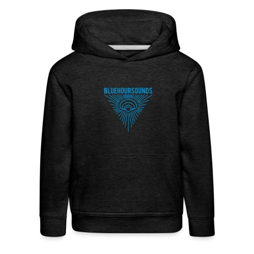 New Blue Hour Sounds logo triangle - Kids' Premium Hoodie