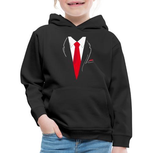 Traje y Corbata - Sudadera con capucha premium niño