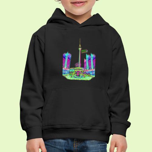 Berlin Alexanderplatz / BerlinLightShow /PopArt - Kinder Premium Hoodie