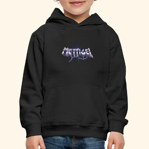 Mettigel T Shirt Design Heavy Metal Schriftzug - Kinder Premium Hoodie