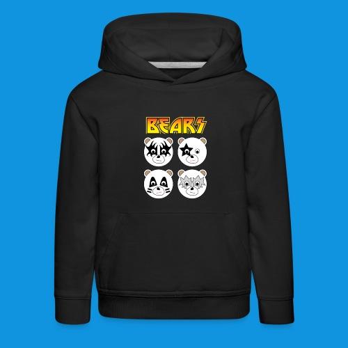 Kiss Bears square.png - Kids' Premium Hoodie